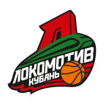 Logo of Lokomotiv-Kuban, russian, white background with border