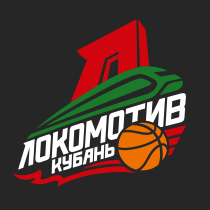 Logo of Lokomotiv-Kuban, russian, black background
