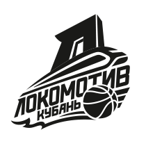 Logo of Lokomotiv-Kuban, russian, black and white