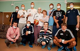 Loko's players visited the Botkin Hospital!